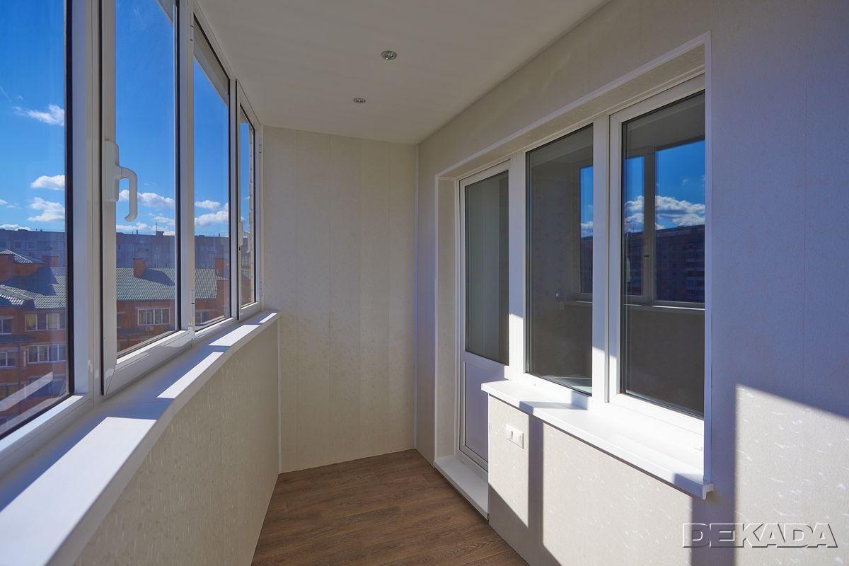Балконы и лоджии - фотографии помещений отремонтированных ко.