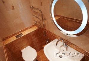 Туалет в коричневых цветах